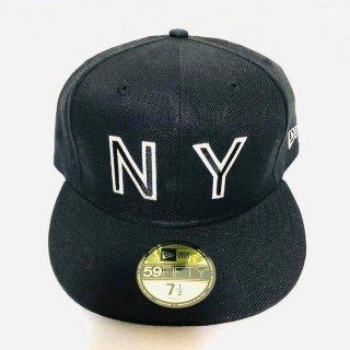 ≪委託商品≫New era FITTED cap NY New York ブラック ニューエラ キャップ フィテード