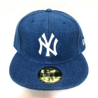 ≪委託商品≫New era FITTED cap MLB NY New York Yankees ブルー ニューヨーク・ヤンキース ニューエラ キャップ フィテード