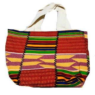 アフリカンプリント アフリカ布 ケンテ ハンドバッグ セカンドトートバッグ African print bag Kente