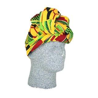 アフリカンプリント アフリカ布 ケンテ ヘッドラップ ターバン African print Head wrap Turban kente