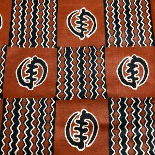 アフリカ布 布 ハンドメイド パーニュ キテンゲ アフリカンバティック アフリカンプリント布 アディンクラ ジニャメ Adinkra Gye Nyame