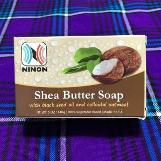 140g 100%天然素材 オーガニック 石鹸 Shea Butter Soap with black seed oil and colloidal oatmeal シアバターソープ Soap