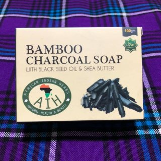 102g 100%天然素材 オーガニック 石鹸 Bamboo Charcoal Soap with black seed oil and shea butter バンブーソープ Soap