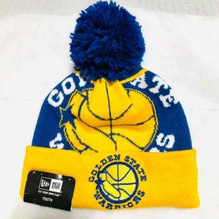 ≪委託商品≫New era YOUTH Knit Cap NBA GOLDEN STATE WARRIORS ニューエラ 子供用 ニットキャップ