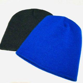 ≪委託商品≫2色 ブルー ブラック Knit Cap 無地 ニットキャップ