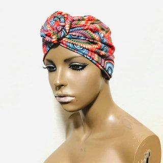 アフリカンプリント らくらくターバン ターバン帽子 ヘッドラップ Africa Head wrap