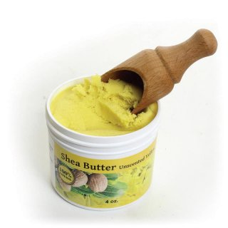 115g 100%天然素材 オーガニック 無添加 イエロー 無香料 アフリカン シアバター Yellow Unscented Shea Butter