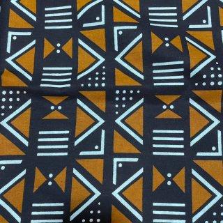 アフリカ布 布 ハンドメイド パーニュ キテンゲ アフリカンバティック アフリカンプリント布 Mud print