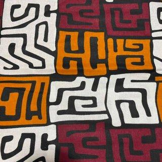 アフリカ布 布 ハンドメイド パーニュ キテンゲ アフリカンバティック アフリカンプリント布 クバプリント Kuba print