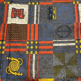 薄手素材 アフリカ布 布 ハンドメイド パーニュ キテンゲ アフリカンバティック アフリカンプリント布 アディンクラ Adinkra
