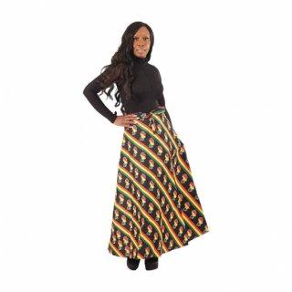 アフリカ ラスタカラー アフリカ大陸 ラップスカート 巻きスカート 紐結び スカート Africa map wrap skirt