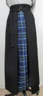 フロントプリーツチェックロングスカート(SK-0087)