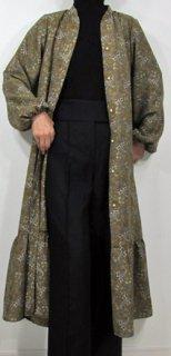 フロント開き裾切替えギャザーワンピース(OP-0086)
