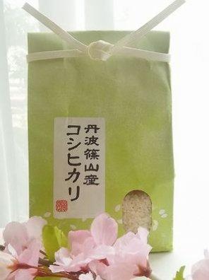 丹波篠山産 白米(減農薬 コシヒカリ) 贈答用 1kg
