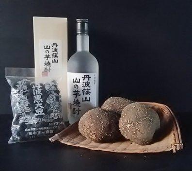 《ギフト用》丹波篠山産 山の芋・黒豆・山の芋焼酎セット