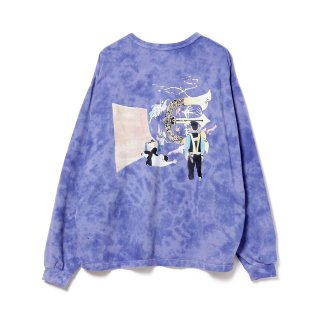 EVISEN × HOLE AND HOLLAND / ROLL IN LS T-SHIRT - TIE DYE