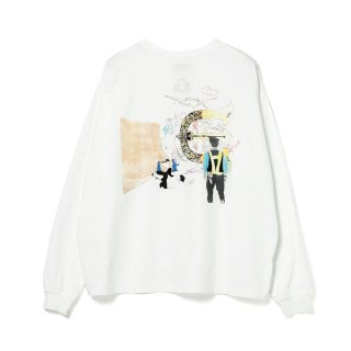 EVISEN × HOLE AND HOLLAND / ROLL IN LS T-SHIRT - WHITE