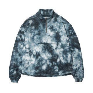 TIE DYE ZIP SWEAT