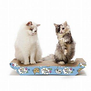 猫壱 バリバリベッド 猫柄 ピンク&ブルー