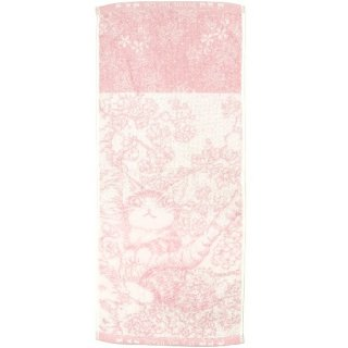 わちふぃーるど 猫のダヤン 制菌フェイスタオル 桜色の風・ピンク