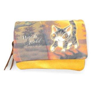 わちふぃーるど 猫のダヤン 光の猫三つ折り財布