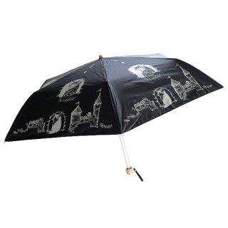 わちふぃーるど 猫のダヤン 遮光ミニ折りたたみ傘 お城