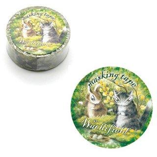 わちふぃーるど 猫のダヤン マスキングテープ15� フォレスト
