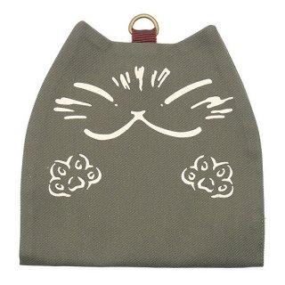 わちふぃーるど 猫のダヤン 抗ウイルス猫型マスクケース カーキ