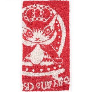 わちふぃーるど 猫のダヤン 抗菌ポケットタオル クラウン・深赤