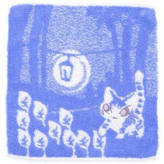 わちふぃーるど 猫のダヤン ふわふわタオル 光の中・すみれ系