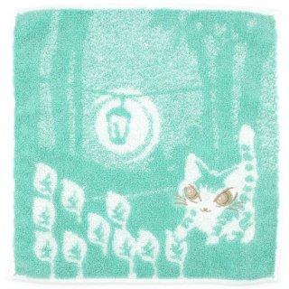 わちふぃーるど 猫のダヤン ふわふわタオル 光の中・ミントグリーン