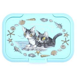 わちふぃーるど 猫のダヤン 抗菌ビタット 海って素敵・ライトブルー