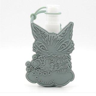 わちふぃーるど 猫のダヤン ポータブルボトルウィズホルダー 手を洗おうニャ・グリーン