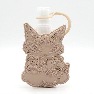 わちふぃーるど 猫のダヤン ポータブルボトルウィズホルダー 手を洗おうニャ・ベージュ