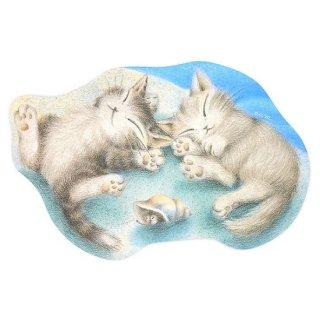 わちふぃーるど 猫のダヤン マウスパッド 遊び疲れた二人