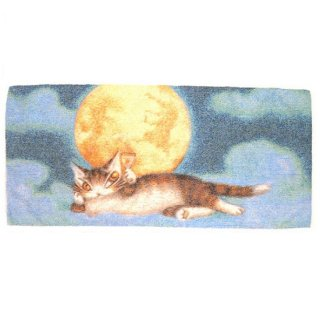 わちふぃーるど 猫のダヤン 五彩織フェイスタオル 月に乾杯