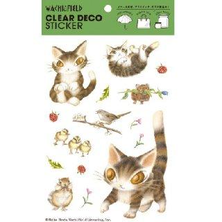 わちふぃーるど 猫のダヤン クリアデコステッカー 森で遊ぼう