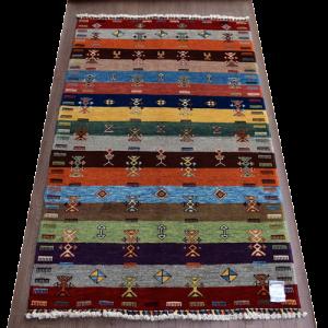 手織りトルコ絨毯  約187×120�