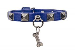 CHIC AND STUD BLUE COLLAR ECOLEATHER【for pets only】