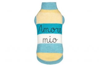 AMORE MIO PULL YELLOW AND TURQUOISE【for pets only】