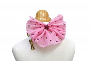 collabo collare rosa fiocco+farfalle【for pets only】