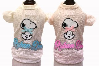 SNOOPY the Vintage Lacy Tshirt【Ruban d'or】