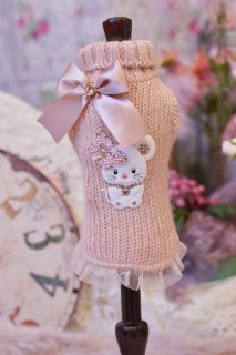 TOPOMIO BLUSH PULL WOLL【for pets only】