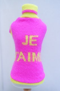 JE T`AIME PULL WOOL【for pets only】