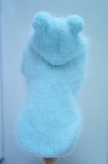 NUVOLA PULL BABY BLUE ANGORA PULL【for pets only】