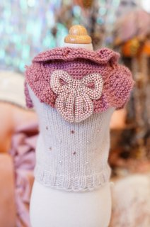 14-pullover cashmere bib bow【IT-DOGS】