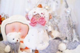 Noel Blanc White Christmas Tweed Star Dress【Rubad'or】