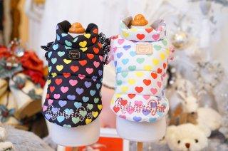 Rainbow Heart Padding Vest【Rubad'or】