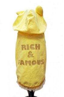 RICH&FAMOUS GIRL YELLOW JERSEY T-SHIRT【for pets only】