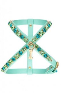 SUPER DIAMOND HARNESS ACQUA ECOLEATHER【for pets only】